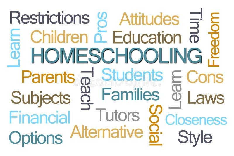 Nuage de Homeschooling Word illustration libre de droits