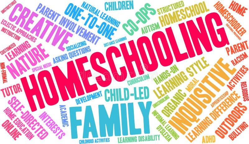 Nuage de Homeschooling Word illustration stock