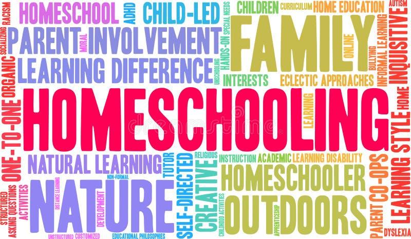 Nuage de Homeschooling Word illustration de vecteur