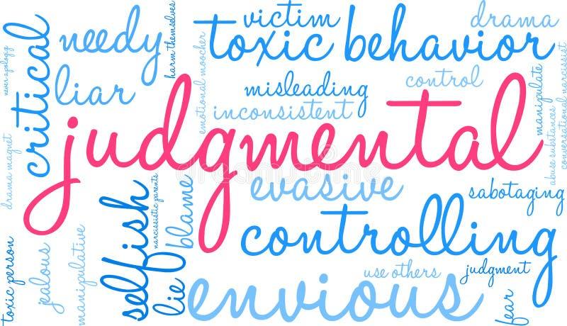Nuage de jugement de Word illustration de vecteur