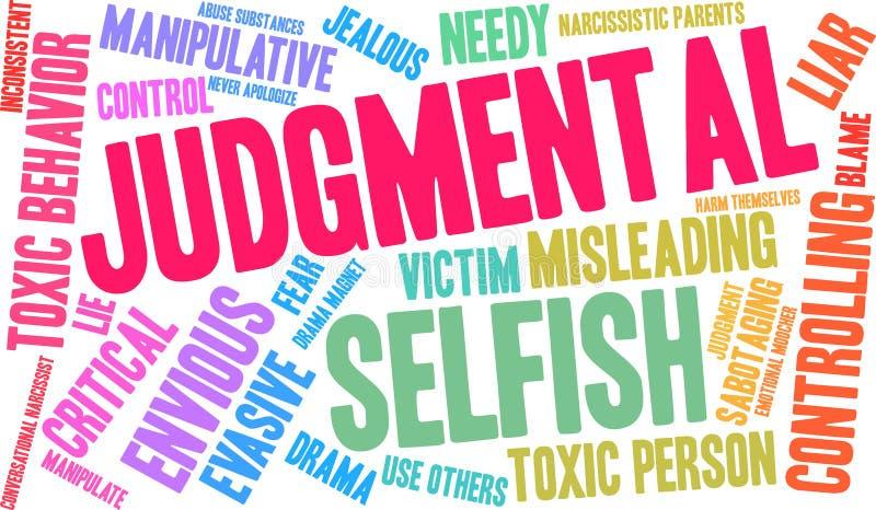 Nuage de jugement de Word illustration libre de droits