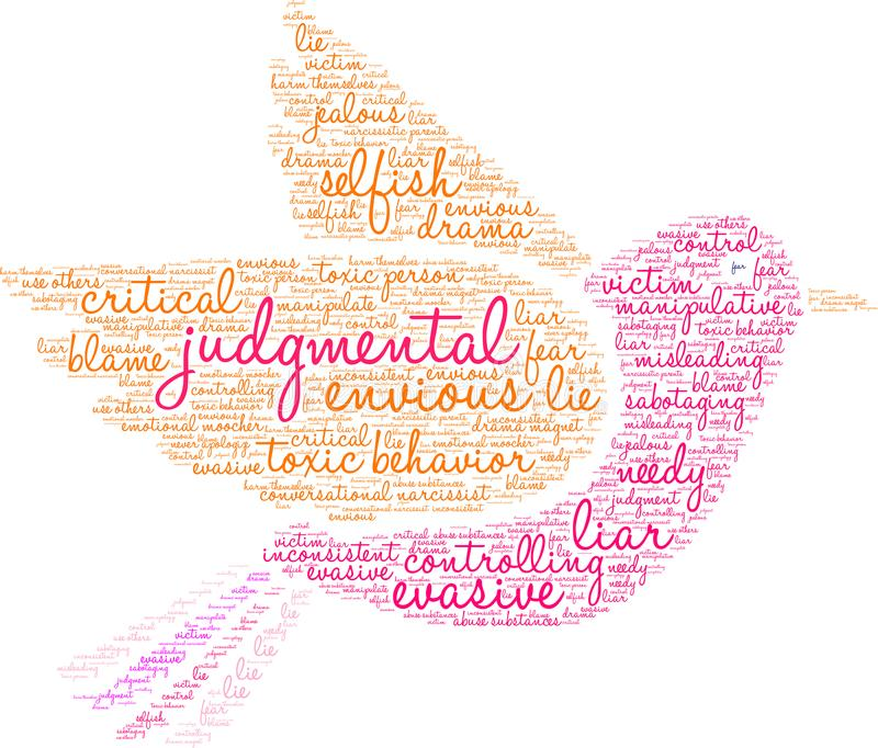 Nuage de jugement de Word illustration stock