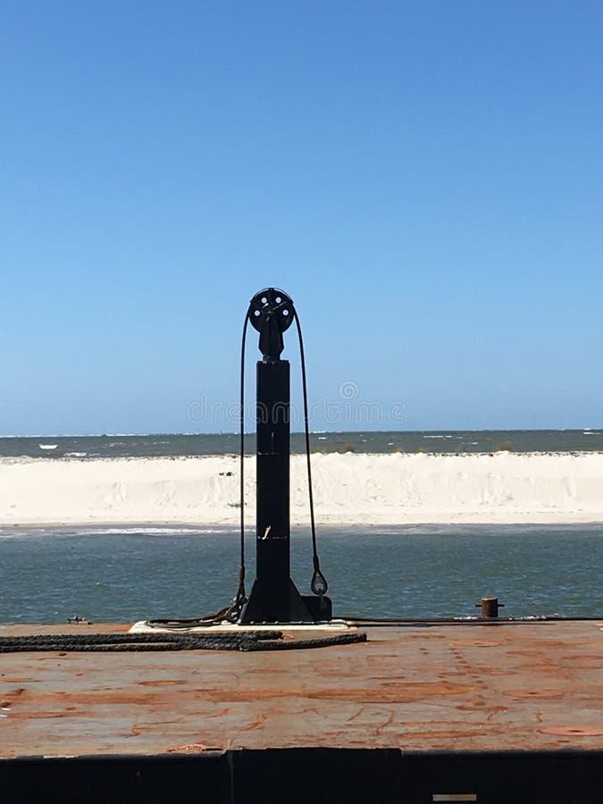 Nuage de mer du soleil de plage de Wangerooge image stock