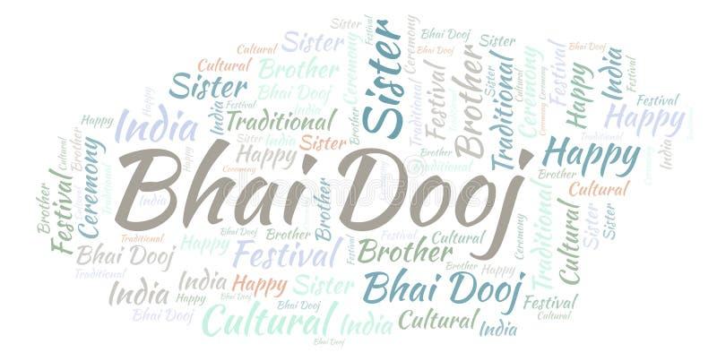 Nuage de mot de Bhai Dooj illustration libre de droits