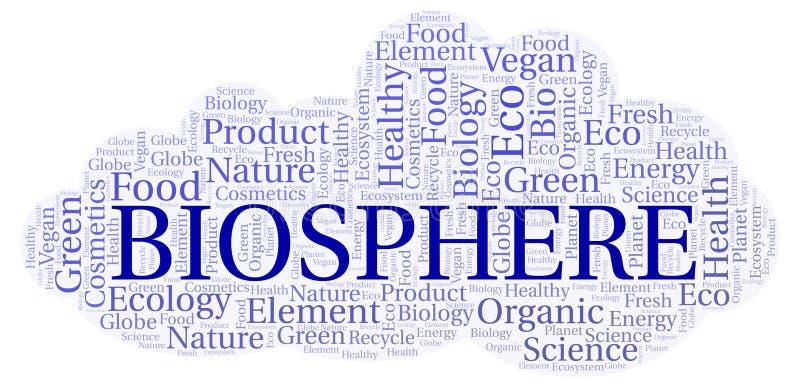 Nuage de mot de biosphère illustration stock