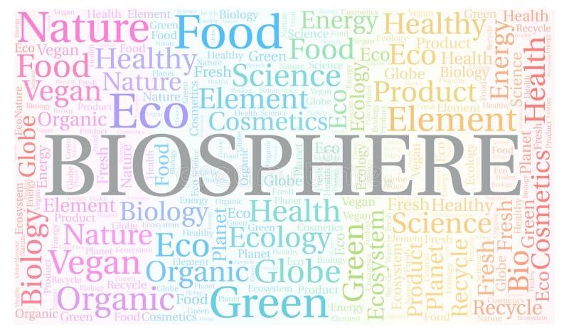 Nuage de mot de biosphère illustration de vecteur