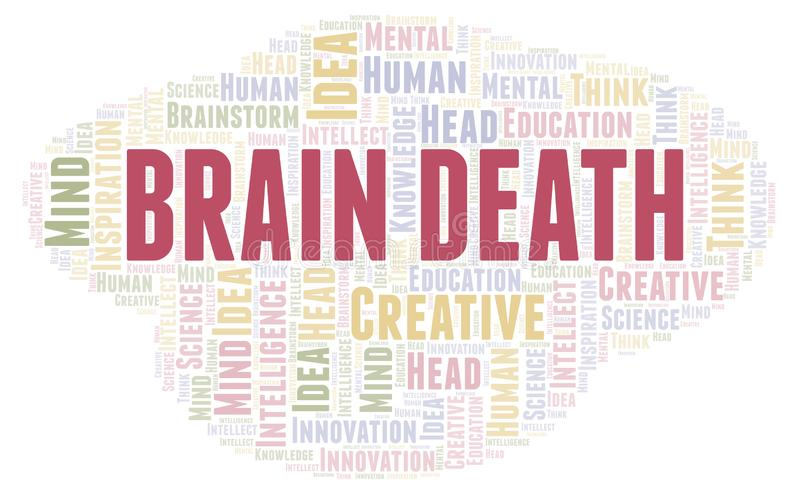 Nuage de mot de Brain Death illustration libre de droits