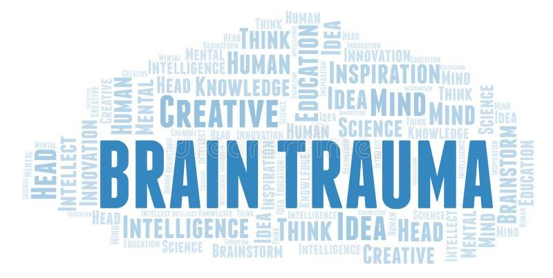 Nuage de mot de Brain Trauma illustration de vecteur