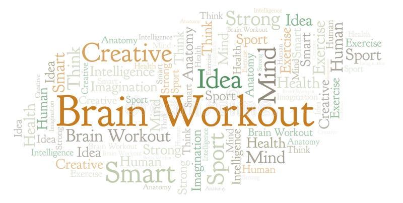 Nuage de mot de Brain Workout illustration stock