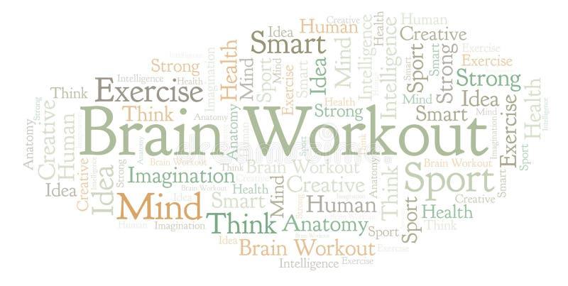 Nuage de mot de Brain Workout illustration libre de droits