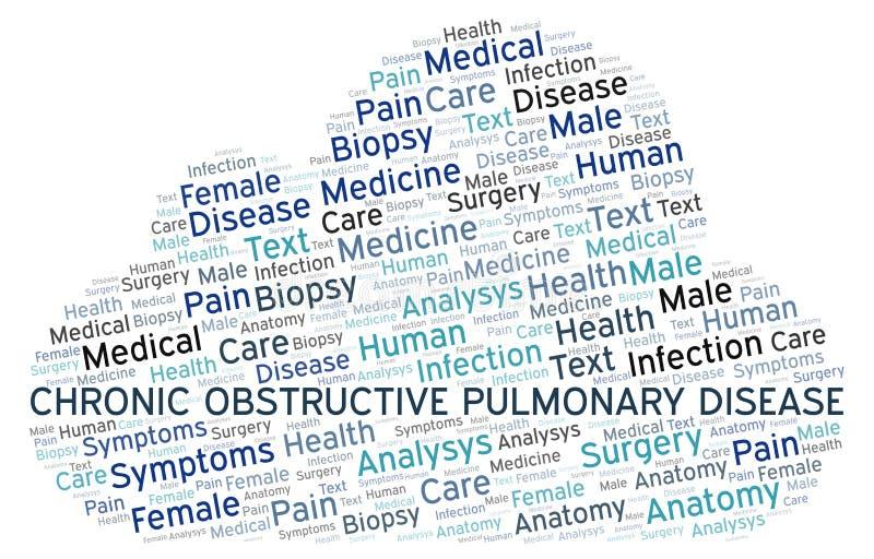 Nuage de mot de bronchopneumopathie chronique obstructive illustration stock