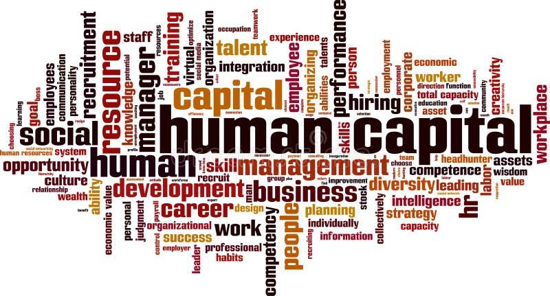 Nuage de mot de capital humain illustration libre de droits
