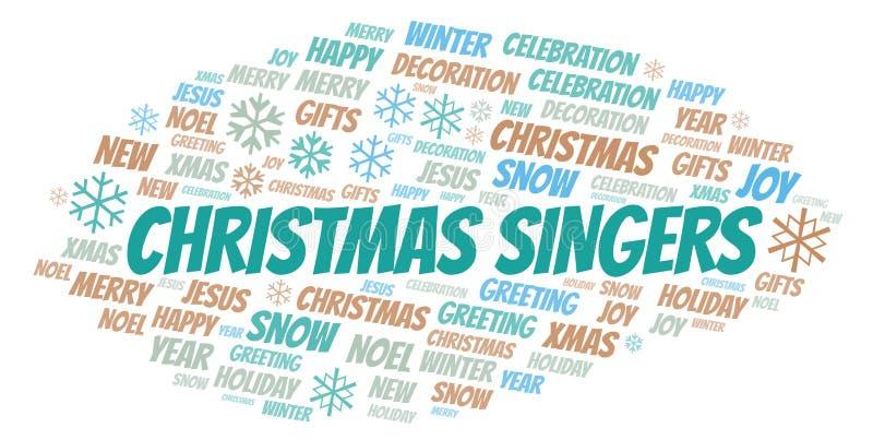 Nuage de mot de chanteurs de Noël illustration de vecteur