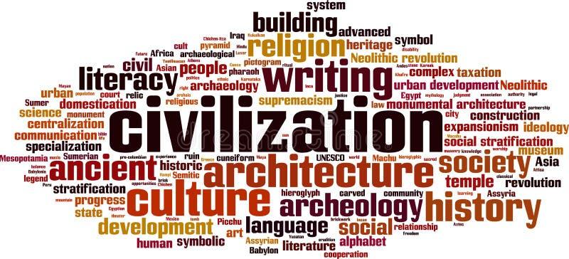 Nuage de mot de civilisation illustration libre de droits