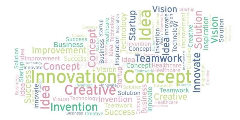 Nuage de mot de concept d'innovation, fait avec le texte seulement illustration libre de droits