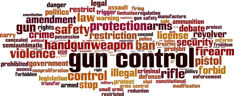 Nuage de mot de contr?le des armes illustration libre de droits