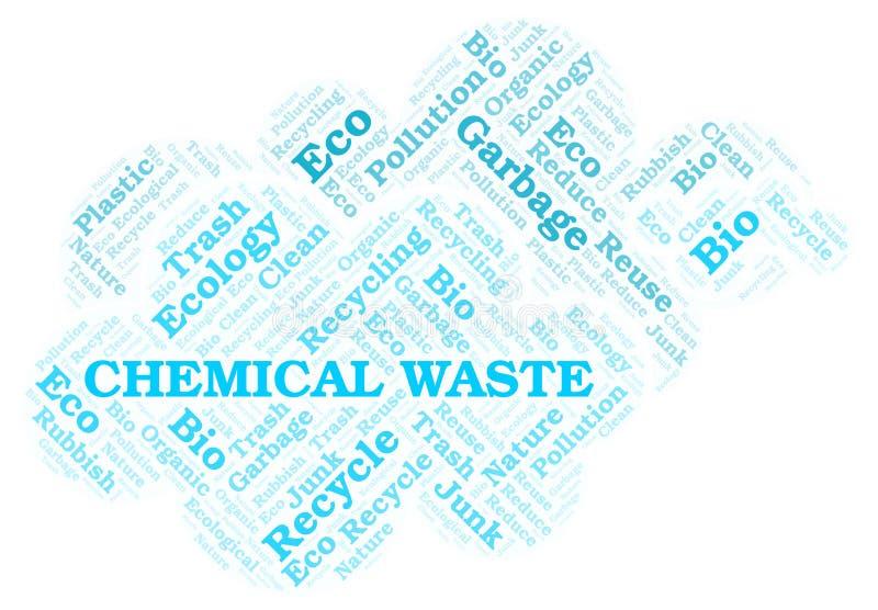 Nuage de mot de déchet chimique illustration libre de droits