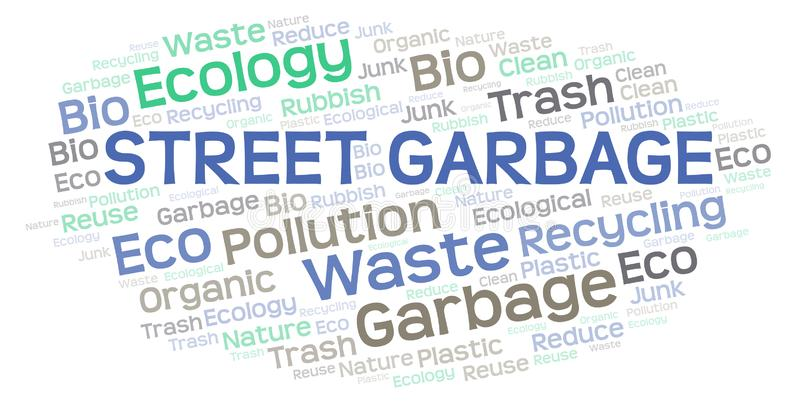 Nuage de mot de déchets de rue illustration de vecteur
