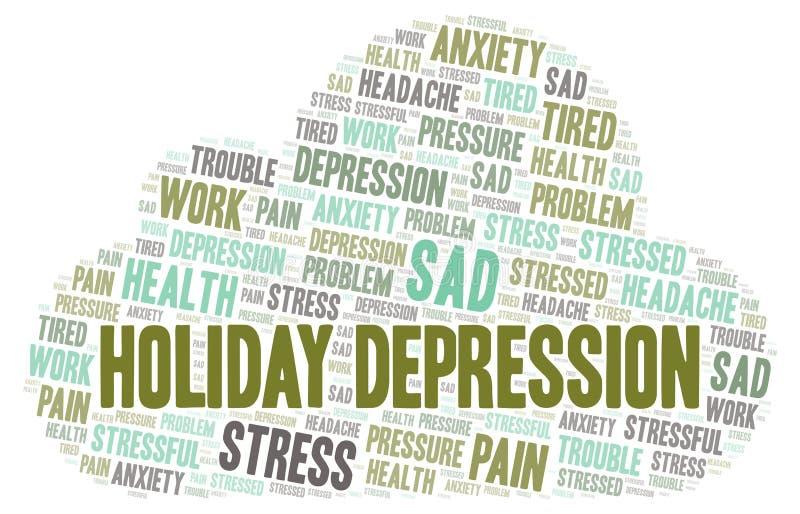 Nuage de mot de dépression de vacances illustration de vecteur