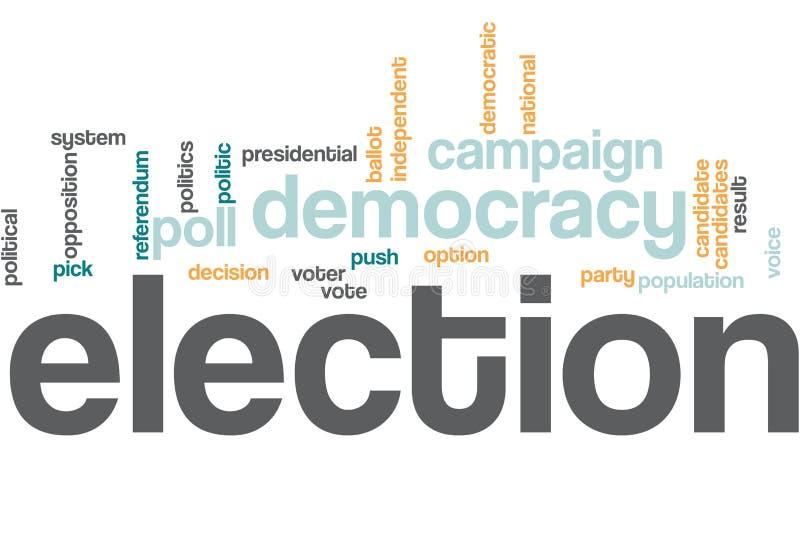 Nuage de mot d'élections photographie stock libre de droits