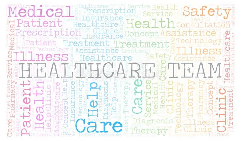 Nuage de mot d'équipe de soins de santé illustration stock