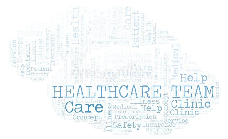 Nuage de mot d'équipe de soins de santé illustration de vecteur