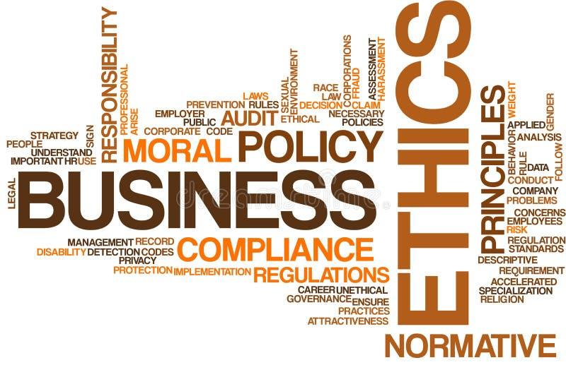 Nuage de mot d'éthique d'affaires illustration de vecteur