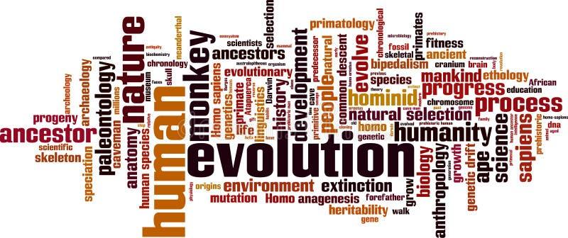 Nuage de mot d'évolution illustration stock