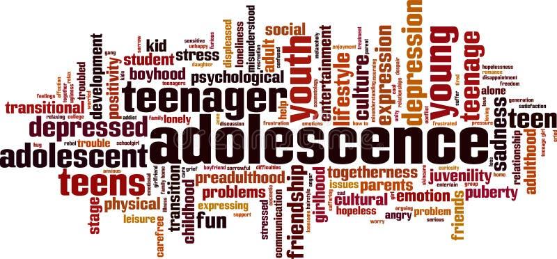 Nuage de mot d'adolescence illustration libre de droits