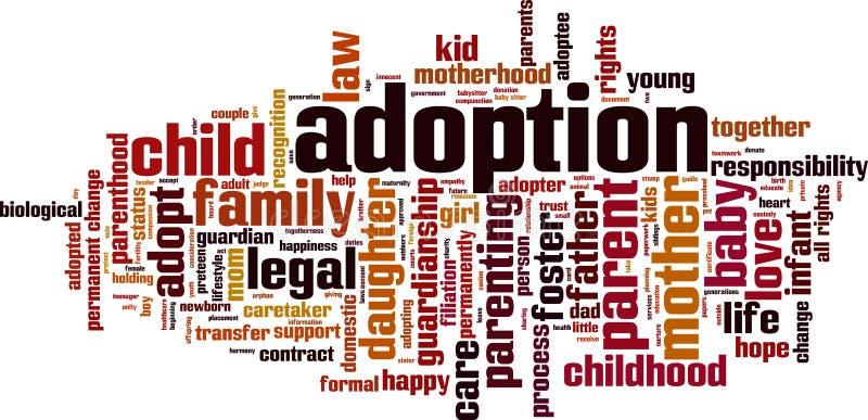 Nuage de mot d'adoption illustration libre de droits