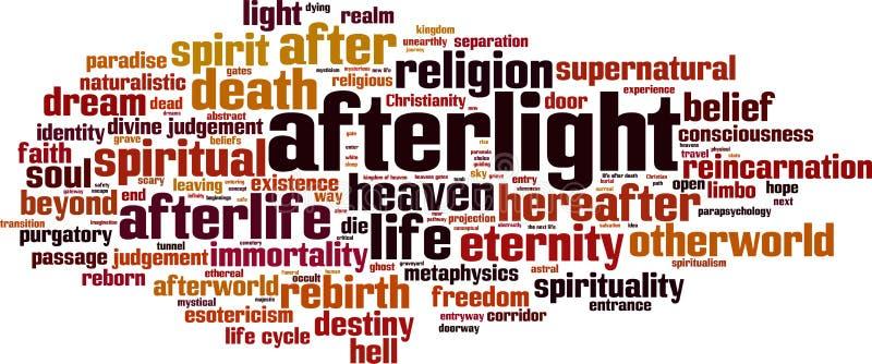 Nuage de mot d'Afterlight illustration stock