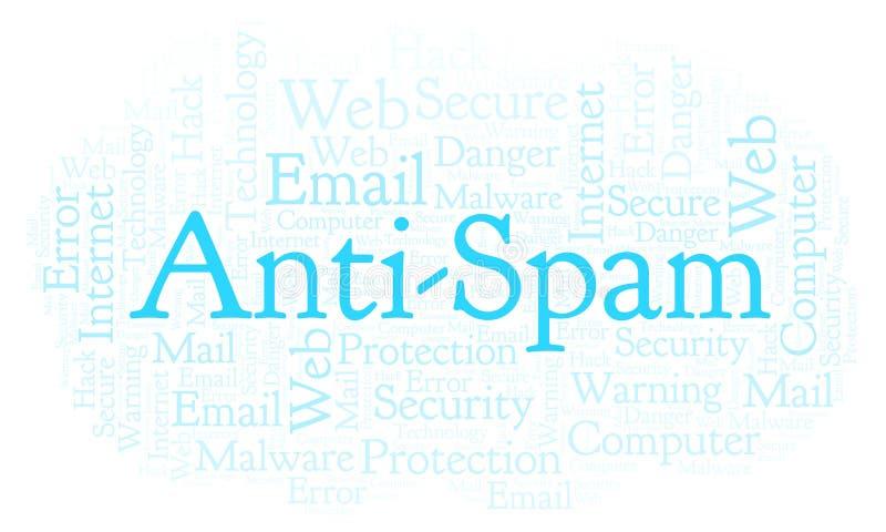 Nuage de mot d'Anti-Spam illustration libre de droits