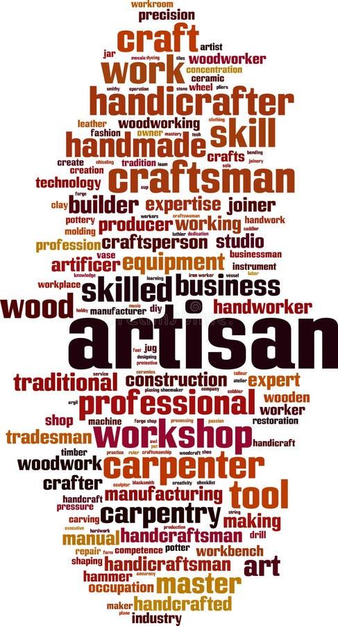 Nuage de mot d'artisan illustration libre de droits