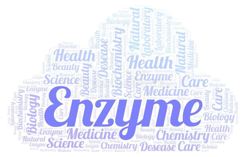 Nuage de mot d'enzymes illustration stock