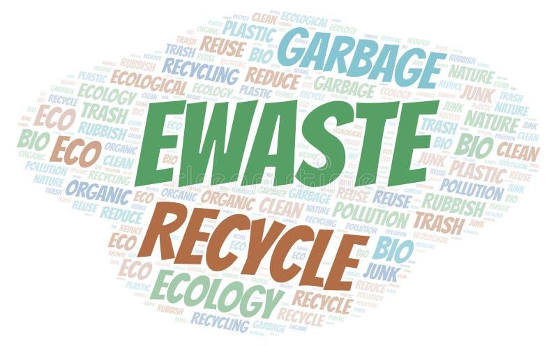Nuage de mot d'Ewaste illustration libre de droits