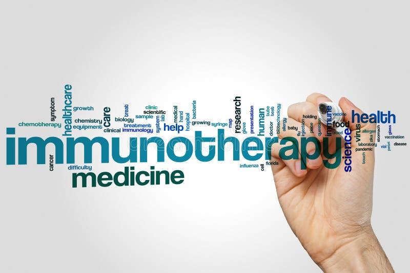 Nuage de mot d'immunothérapie image stock