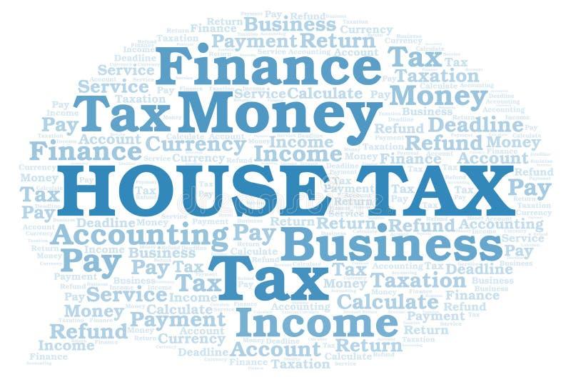 Nuage de mot d'impôts de Chambre illustration de vecteur
