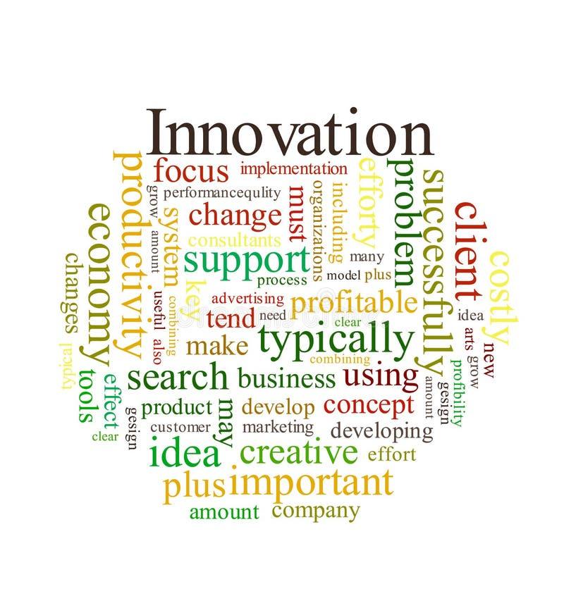 Nuage de mot d'innovation illustration stock
