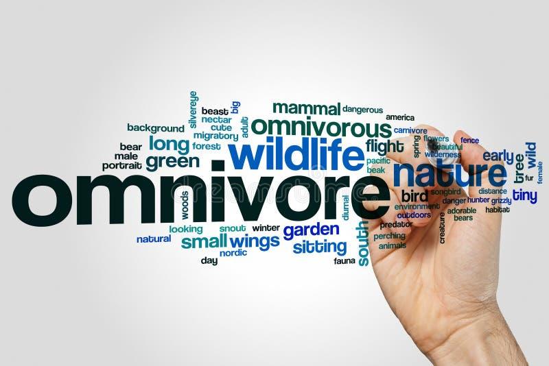 Nuage de mot d'omnivore image libre de droits
