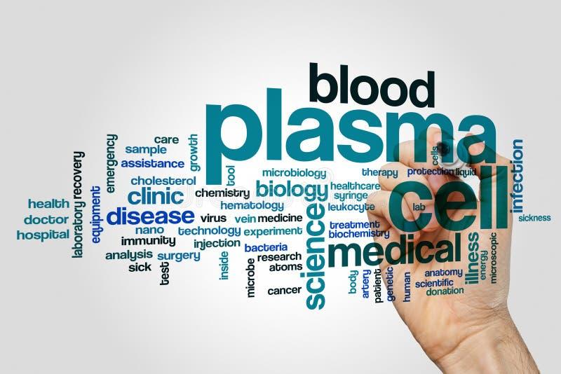 Nuage de mot de cellules de plasma images stock