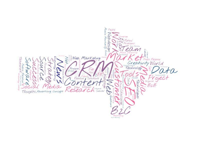 Nuage de mot de CRM illustration de vecteur