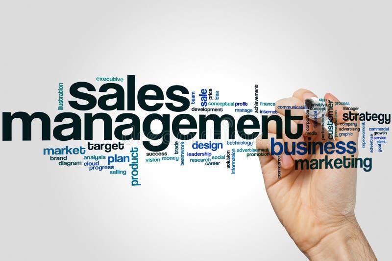 Nuage de mot de gestion des ventes illustration stock