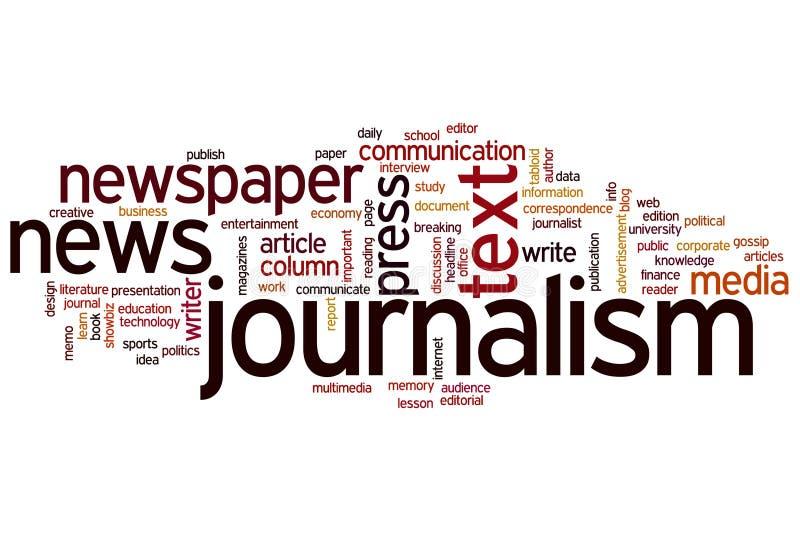 Nuage de mot de journalisme illustration stock