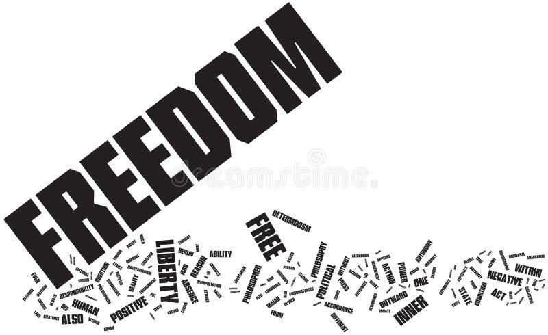 Nuage de mot de liberté illustration stock