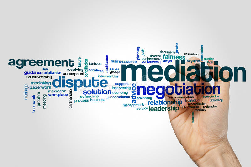 Nuage de mot de médiation image libre de droits