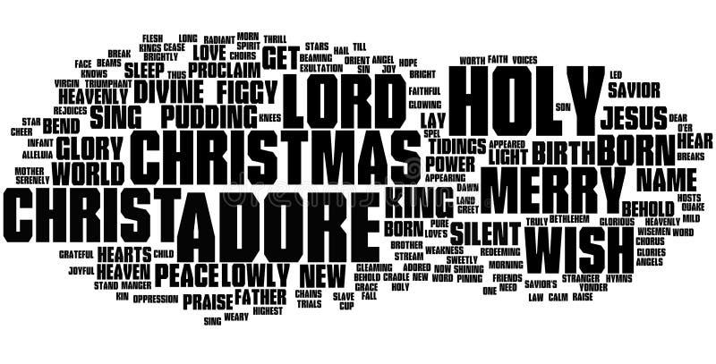Nuage de mot de Noël illustration libre de droits
