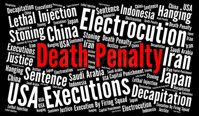 Nuage de mot de peine de mort illustration de vecteur