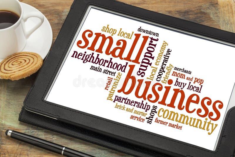 Nuage de mot de petite entreprise image stock