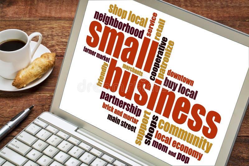 Nuage de mot de petite entreprise image libre de droits