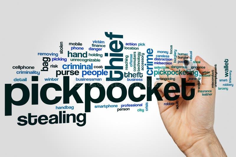 Nuage de mot de pickpocket photographie stock